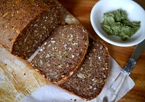 Gluten Free and Vegan Buckwheat Bread by Nourish Everyday - one of my most popular blog recipes of all time, it's so good and so easy! A healthy recipe for bread made vegan and gluten-free using chia seeds, buckwheat flour and almond meal.