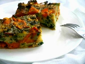 Sweet Potato & Broccoli Frittata  Nourish Everyday   Easy, healthy and tasty, this dish is packed with protein and a rainbow of healthy veggies!
