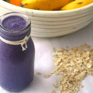 Blueberry Zing Breakfast Smoothie (dairy free, gluten free) - Nourish Everyday