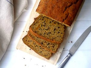Seeded Sweet Potato Paleo Bread by Nourish Everyday (gluten free, grain free, dairy free)