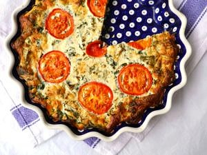 Kale Dill and Ricotta Pie (gluten free, grain free, nut free) - recipe via Nourish Everyday