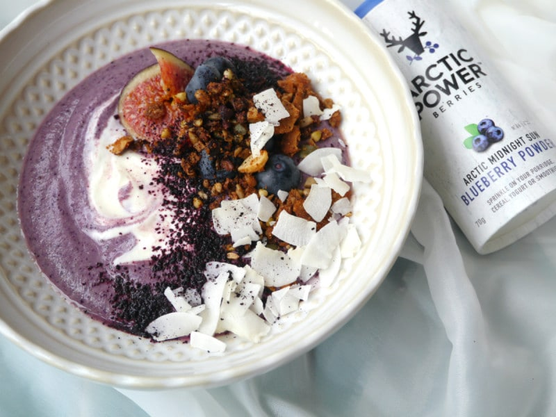 Arctic Berries Blueberry Veggie Smoothie Bowl