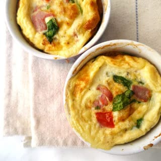 Baked Breakfast Egg Pots - gluten free and dairy free