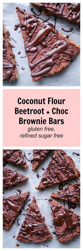 These choc brownie bars are made SO healthy with cacao, beetroot and coconut flour. Refined sugar free, dairy free & gluten free, they're delicious! Recipe via wordpress-6440-15949-223058.cloudwaysapps.com