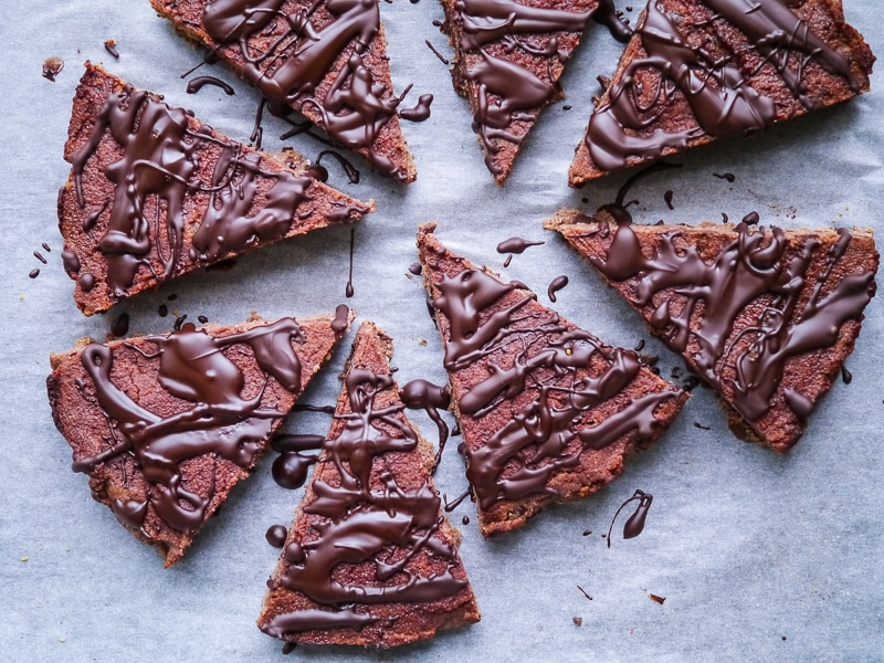 Coconut Flour Beetroot and Chocolate Chip Brownie Bars by Nourish Everyday