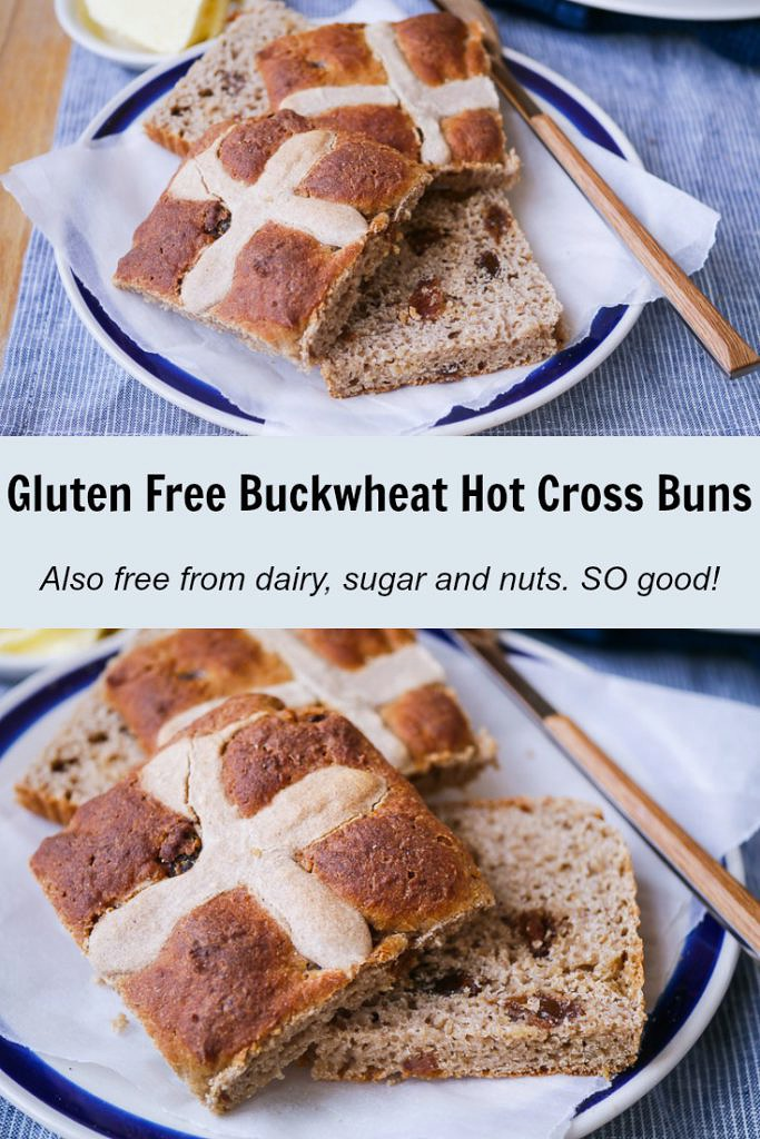 Gluten Free Buckwheat Hot Cross Buns | Nourish Everyday | These AMAZING hot cross buns are gluten free, dairy free and refined sugar free! They're so soft, fragrant and delicious though you wouldn't know it!