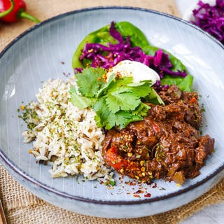 Simple Healthy Chicken Mole by Nourish Everyday - no added sugar and gluten free!