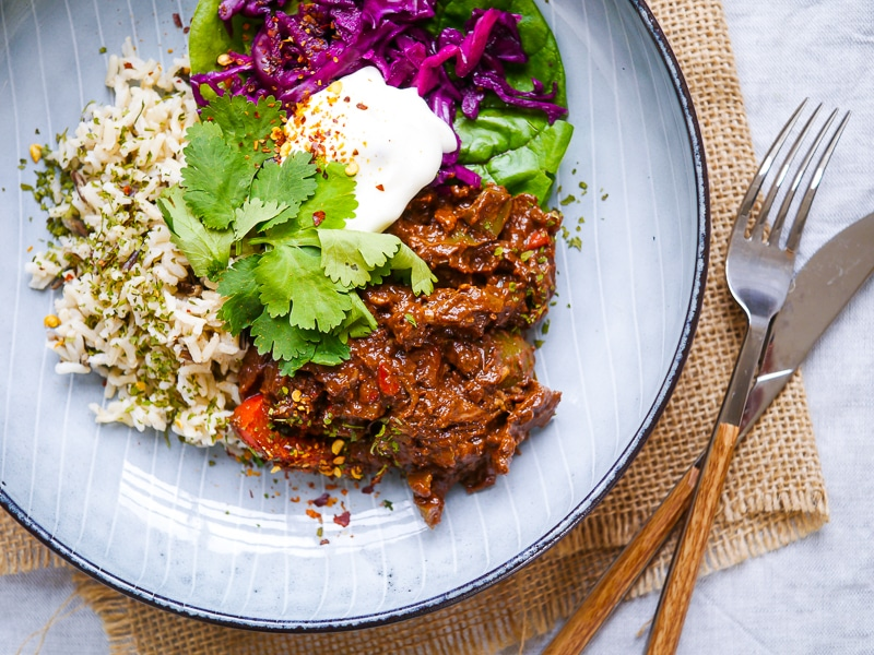 Simple Healthy Chicken Mole by Nourish Every Day - no added sugar and gluten free!