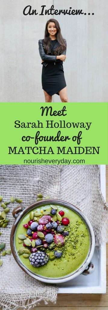 An interview with one of the founders of Matcha Maiden, Sarah Holloway. Genius girl boss, entrepreneur and healthy foodie! Via wordpress-6440-15949-223058.cloudwaysapps.com
