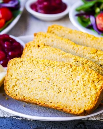 Savoury Pumpkin Oat Bread is so easy to make with your Vitamix! Gluten free, dairy free and sugar free, a great healthy snack or side dish. Recipe via wordpress-6440-15949-223058.cloudwaysapps.com