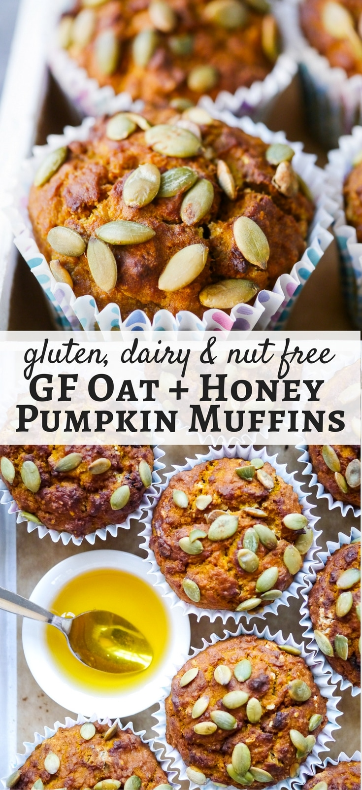 Gluten free oat and honey pumpkin muffins made with simple natural ...