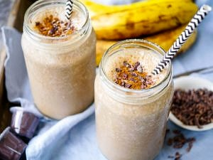 Energise with this Espresso and Maca Banana Smoothie! Gluten free, dairy free and vegan friendly, a great healthy snack or breakfast. Recipe via wordpress-6440-15949-223058.cloudwaysapps.com