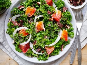 Massaged Kale and Blood Orange Salad