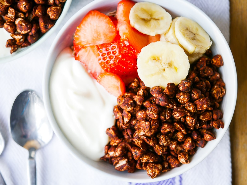 Chocolate puffed buckwheat cereal coco pops nourish every day crispy chocolate puffed buckwheat cereal easy healthy coco pops naturally sweetened and nothing artificial ccuart Choice Image