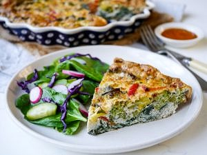 Pesto Vegetable Frittata