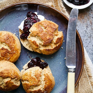 Wholegrain Gluten Free Kefir Scones (gluten free, soy free, egg free) - recipe by Nourish Everyday