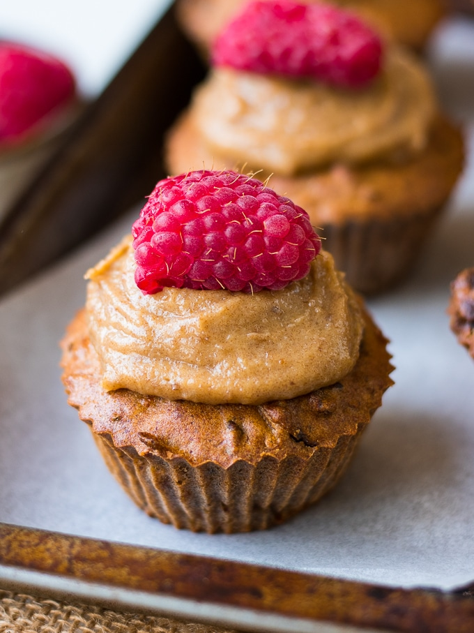 Healthy carrot, date and walnut muffins made with buckwheat flour and almond meal. Gluten free and dairy free, these are the perfect snack to pop in your lunchbox!