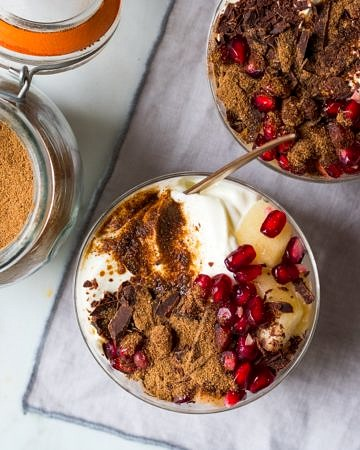 Super easy to create, homemade chai latte mix makes a delicious hot drink and you can use it in so many other things, like these divine chai yoghurt dessert pots!