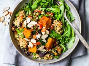 Honey Roast Pumpkin Quinoa Salad