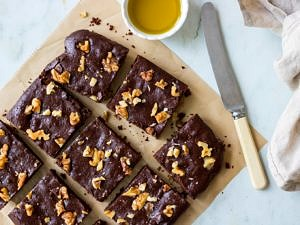 Olive Oil Chocolate Brownies (grain free!)