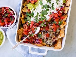 Loaded vegetarian mushroom nachos recipe