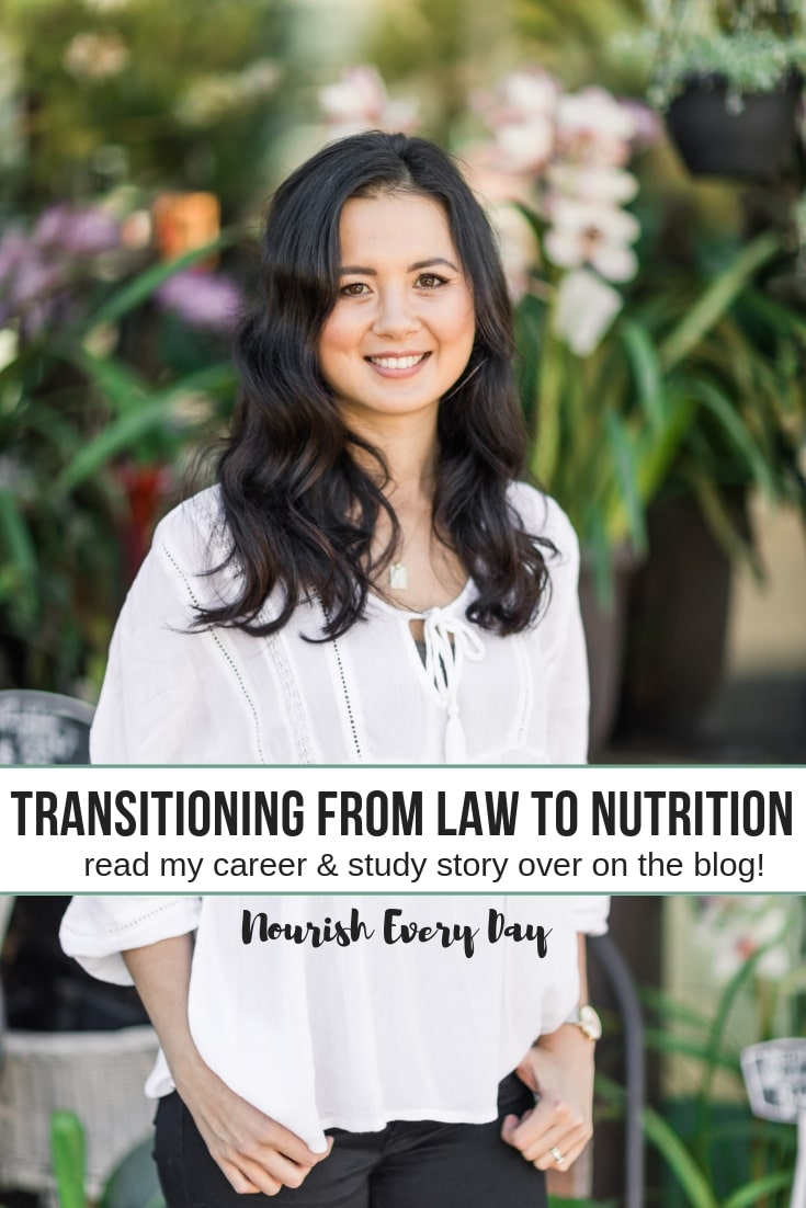 Nourish Every Day blog post - from law to nutrition at Endeavour College!