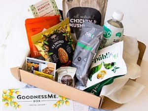 GoodnessMe Box example - review on Nourish Every Day