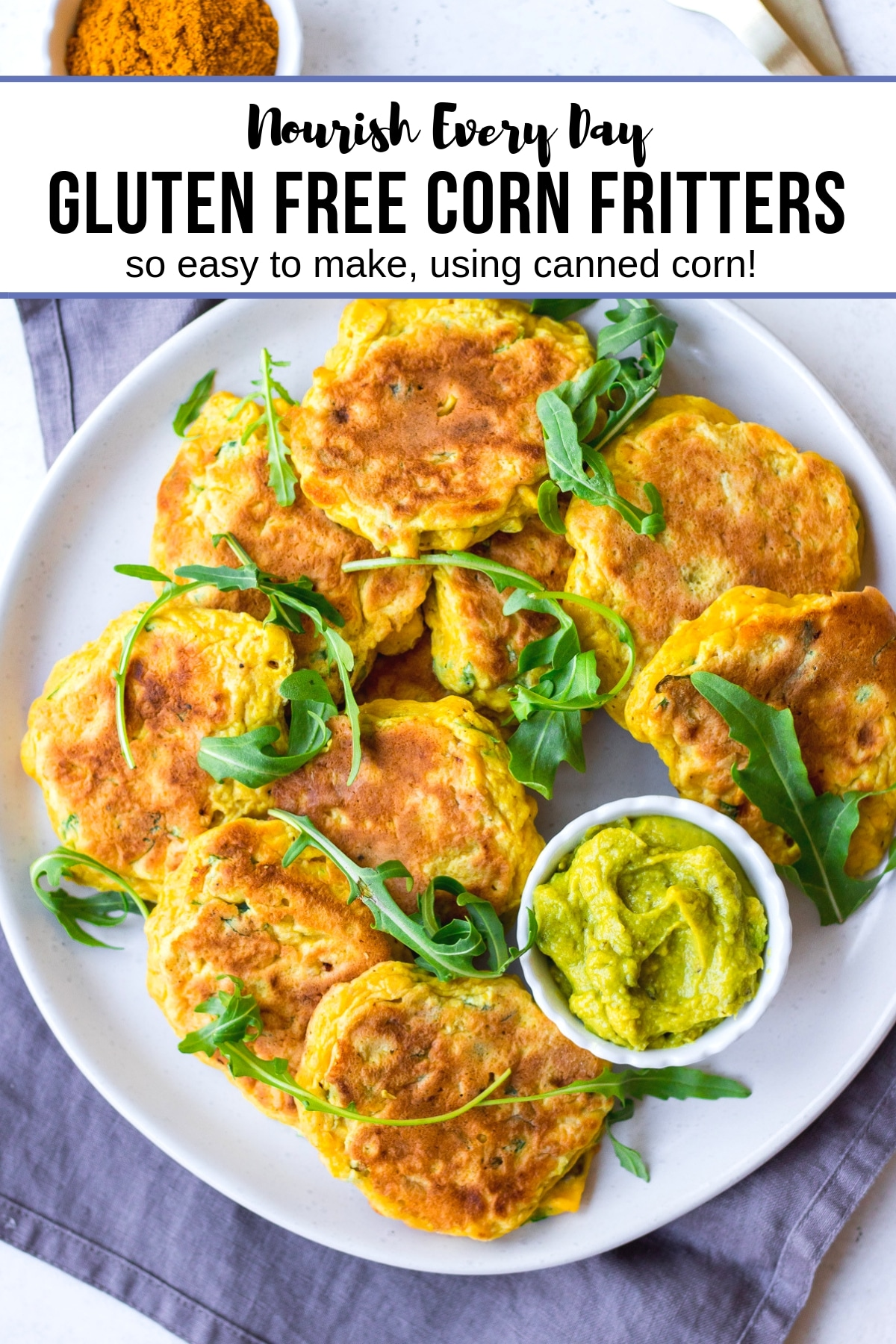 Gluten Free Corn Fritters | Nourish Every Day Blog