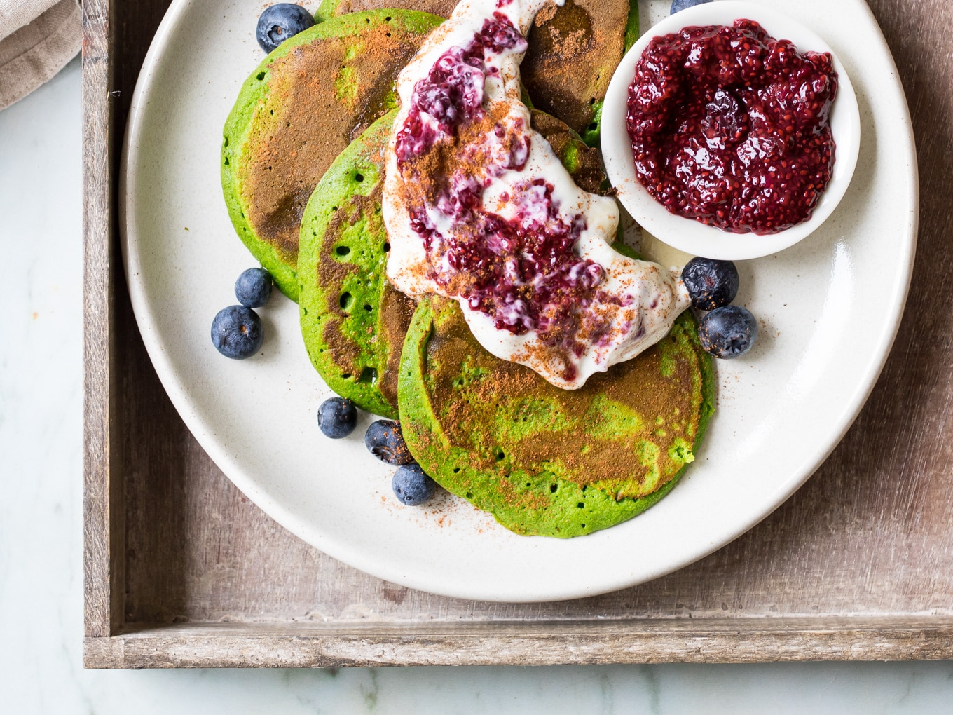 Green Smoothie Pancakes Recipe by Nourish Every Day blog
