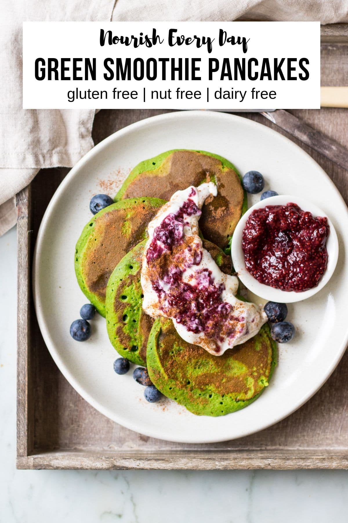 Green Smoothie Pancakes Recipe Pin by Nourish Every Day