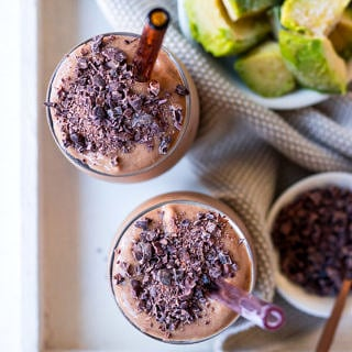 Healthy chocolate avocado smoothie recipe - Nourish Every Day blog