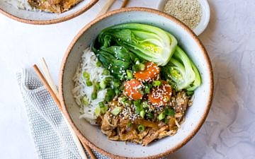Slow Cooker Soy Braised Chicken recipe by Nourish Every Day