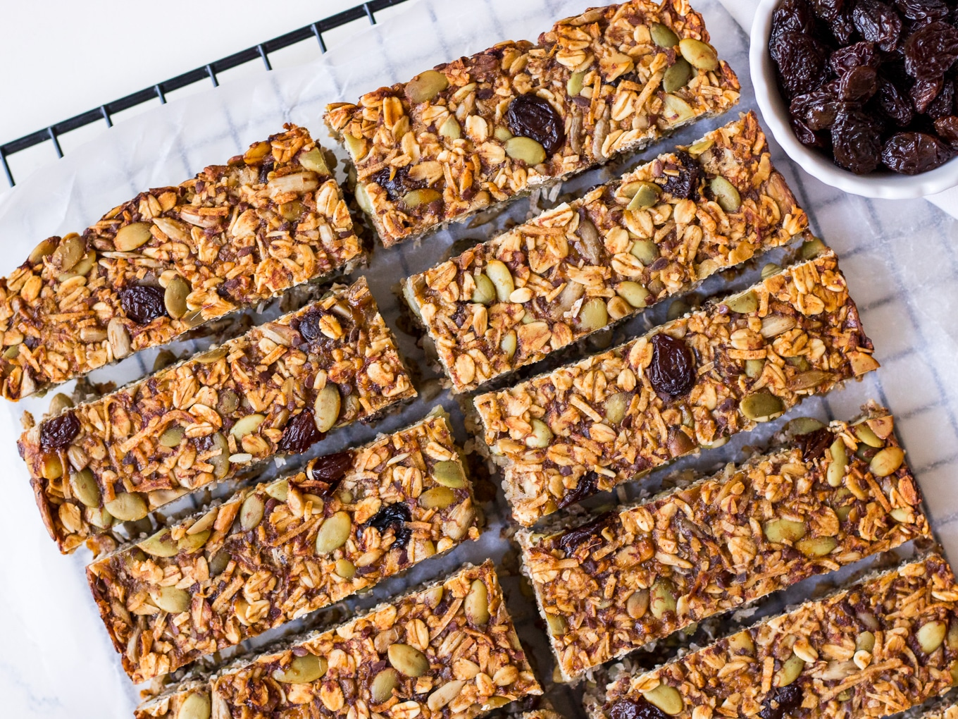 Vegan banana bread granola bar recipe by Nourish Every Day