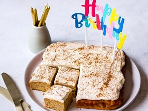 Healthy First Birthday Cake Recipe on Nourish Every Day Blog