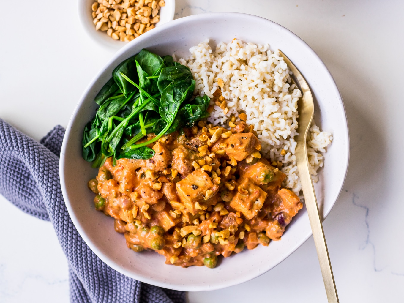 Peanut Butter Coconut Curry Recipe by Nourish Every Day