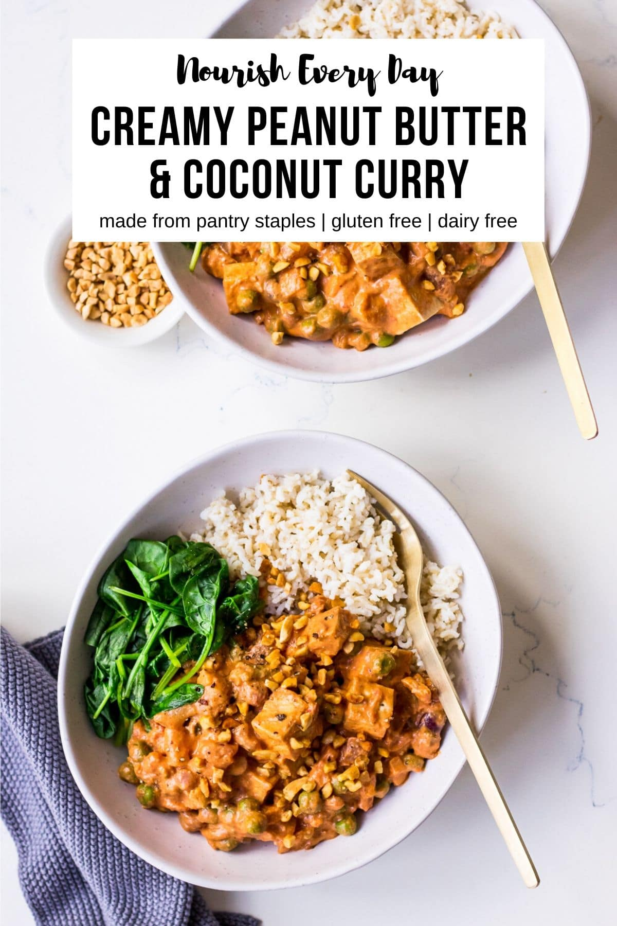 Creamy Peanut Butter Coconut Curry on Nourish Every Day