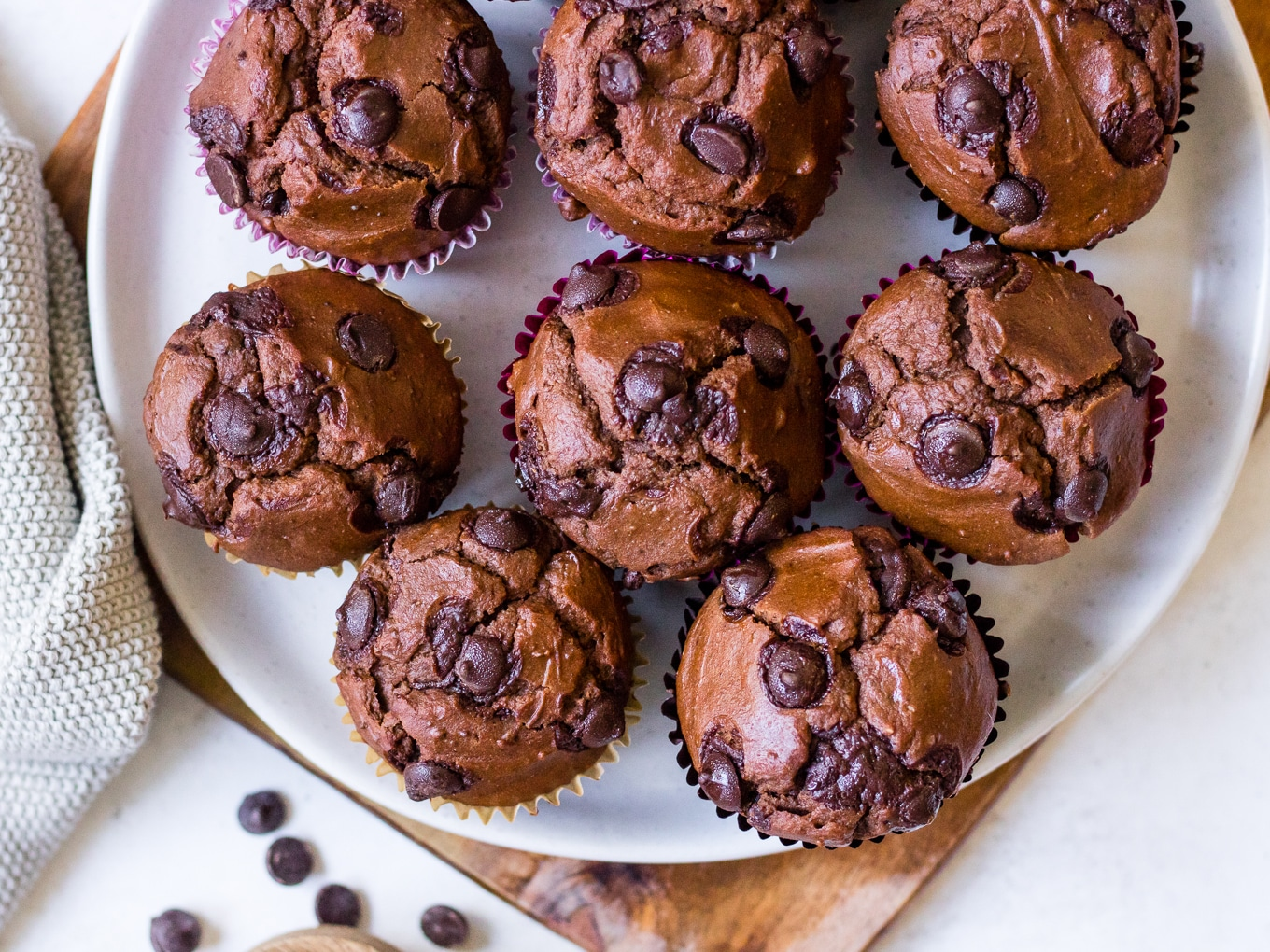 Recipe image for Double Chocolate Sweet Potato Muffins by Nourish Every Day